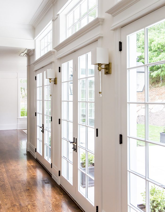 Double Glass Doors to Patio