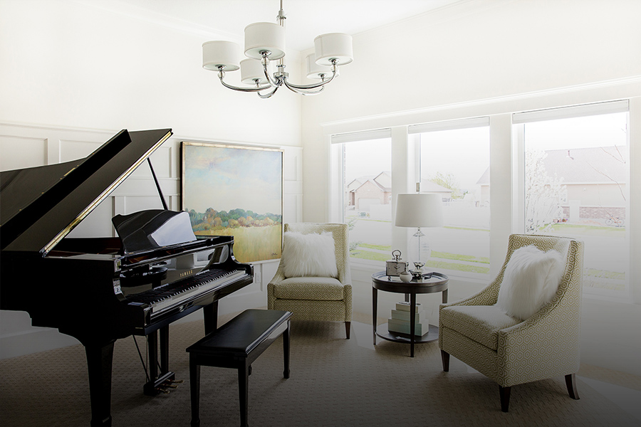 Natural Light Music Room Lake