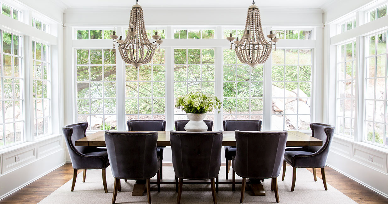 Hamptons Vacation Home Dining Room