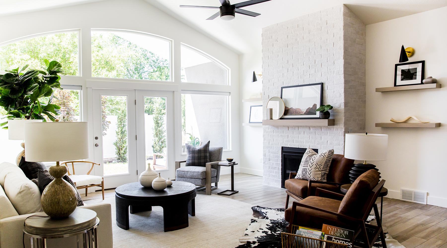 Full Natural Light Living Room Interior Design