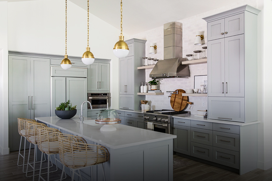 Gold Hanging Custom Kitchen Fixtures