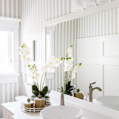 Bright Bathroom Raised Sink
