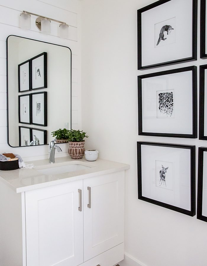 White and Black Bathroom Miya Design