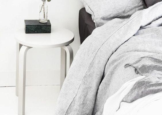 Gray Monochromatic Bedroom Design