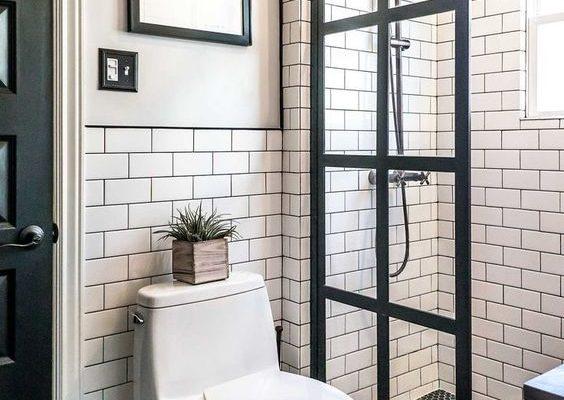 Minimalist Black and White Bathroom Design