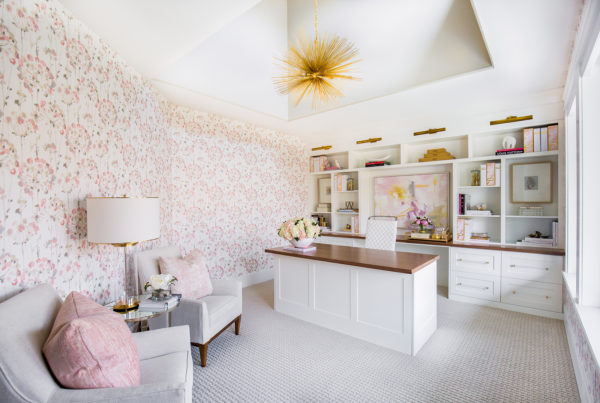 Unique Floral Pattern Office Wallpaper