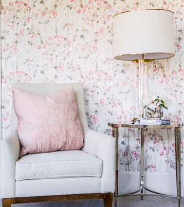 Pink Accented Sitting Area