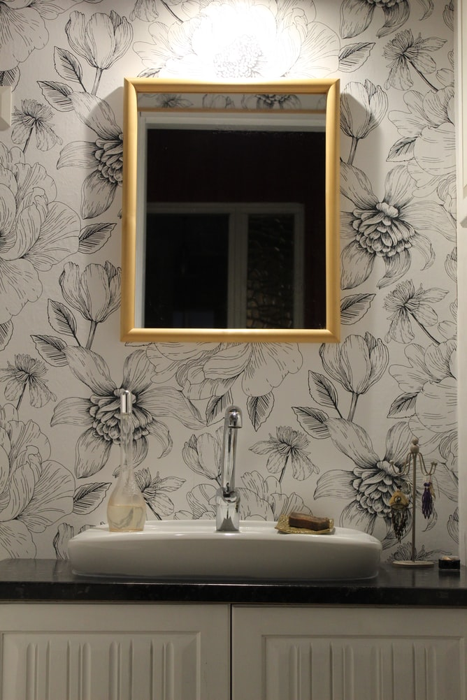 Unique Floral Bathroom Wallpaper - Interior Design Tips from Miya Interiors