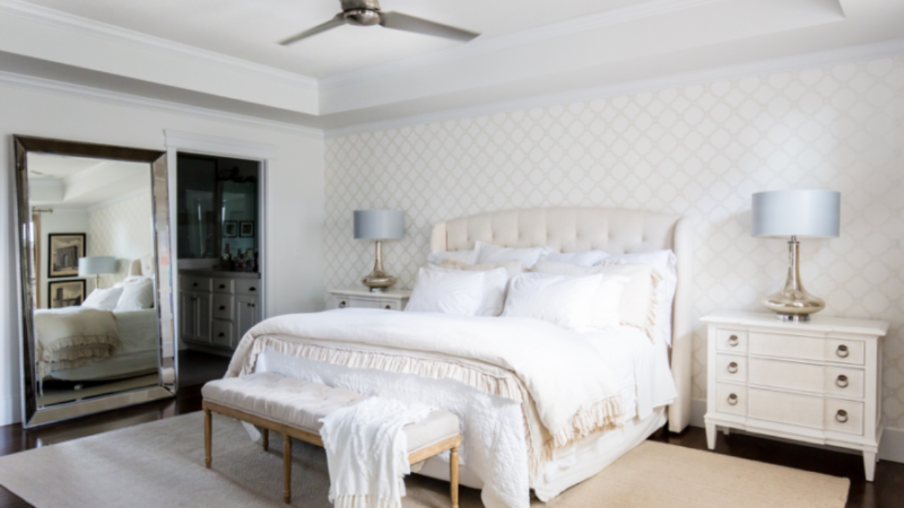 How To Layer Your Bedding The Right Way Layered Bedding Miya Interiors