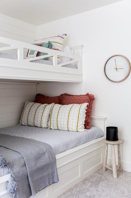 Bunk Room Layered Bedding Ideas from Miya Interiors Interior Design