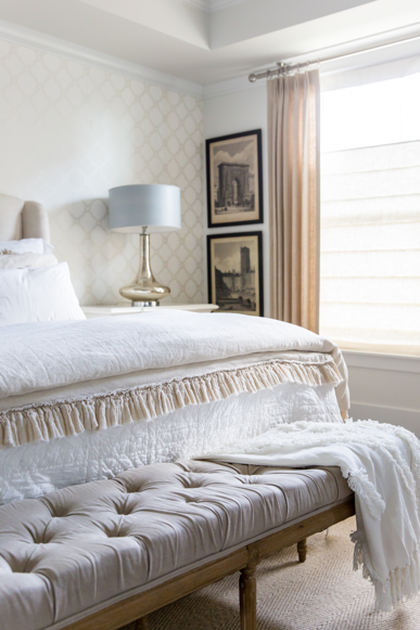 How to Style a Bed With White Layered Bedding - Tips from Miya Interiors