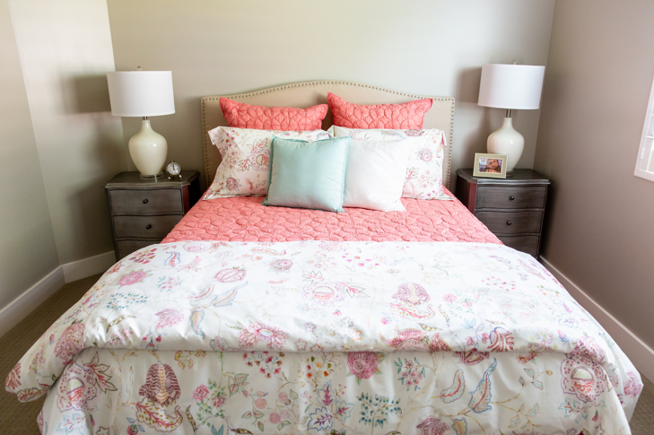 Colorful Layered Bedding Ideas from Miya Interiors - Interior Design Tips