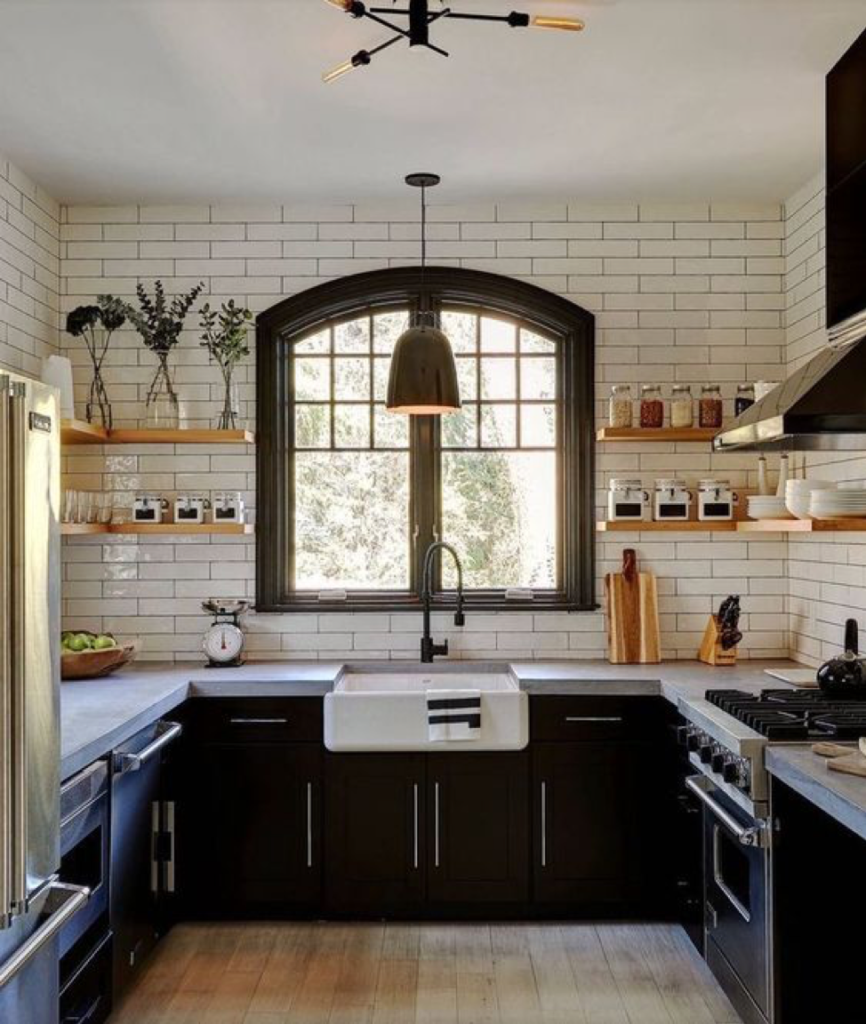 Black Kitchen Accents Cupboards