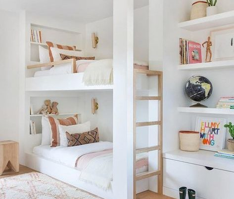 In Wall Bunkbeds White Rooms