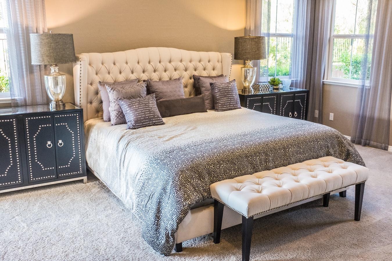 curved bed frame bedroom interior design