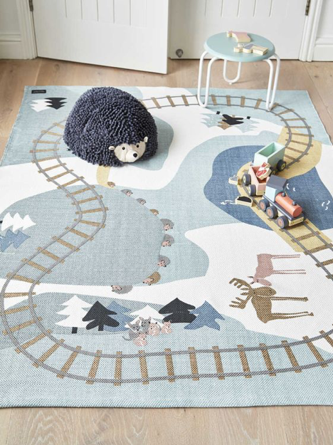 Kids Play Room Train Rug