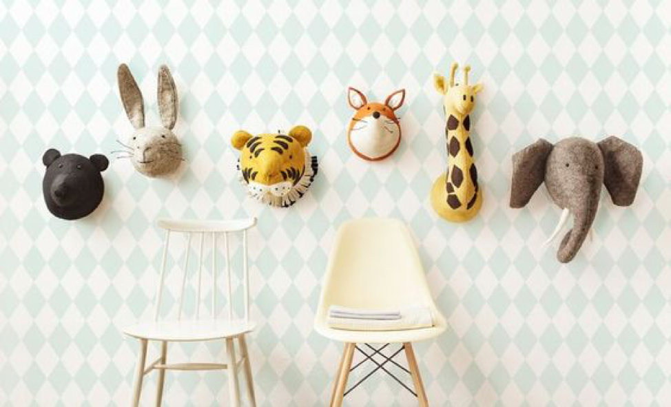 Animal Kids Playroom Art