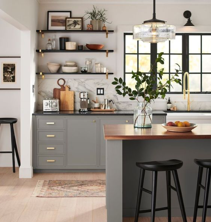 Kitchen Splurge Counters and Lights