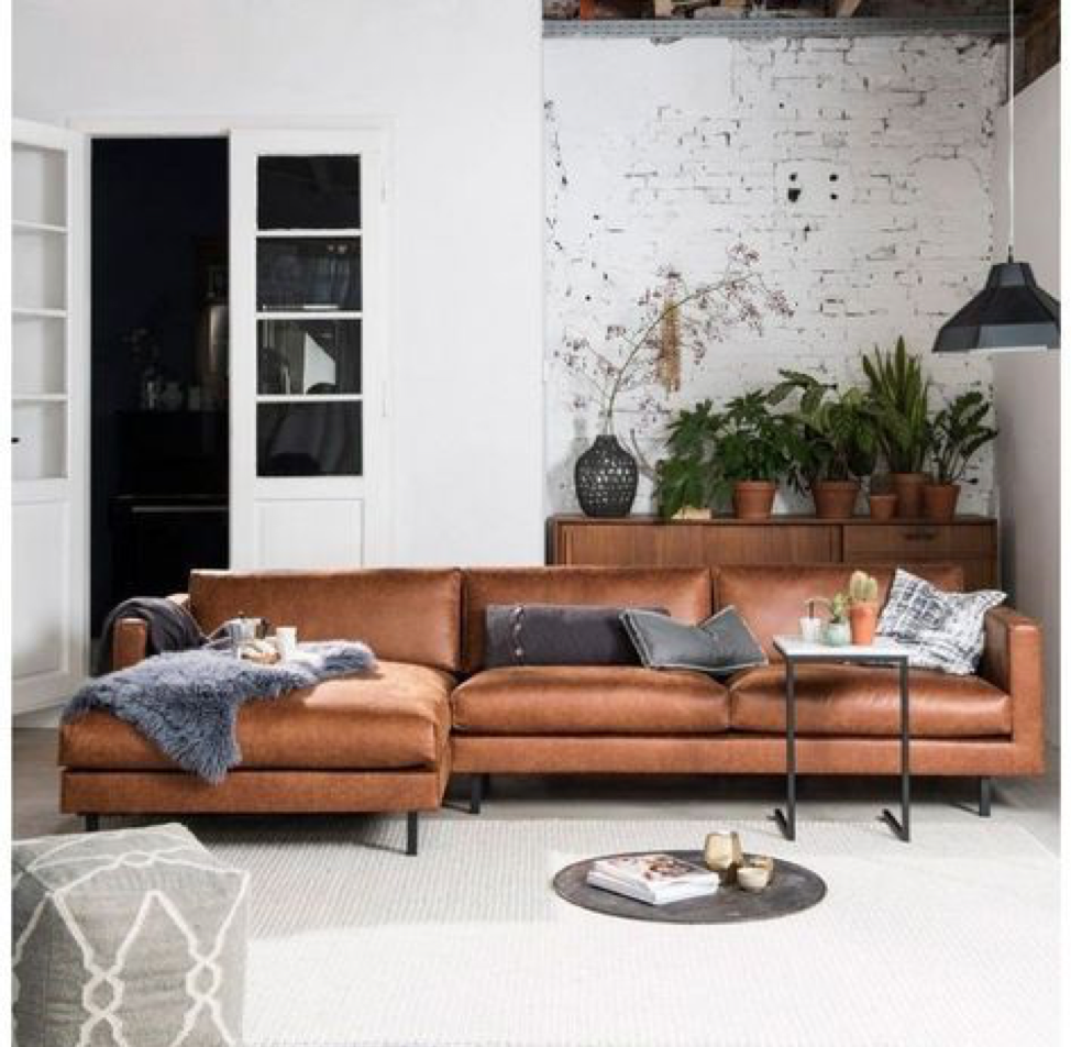 Furniture Splurge Brown Leather Couch