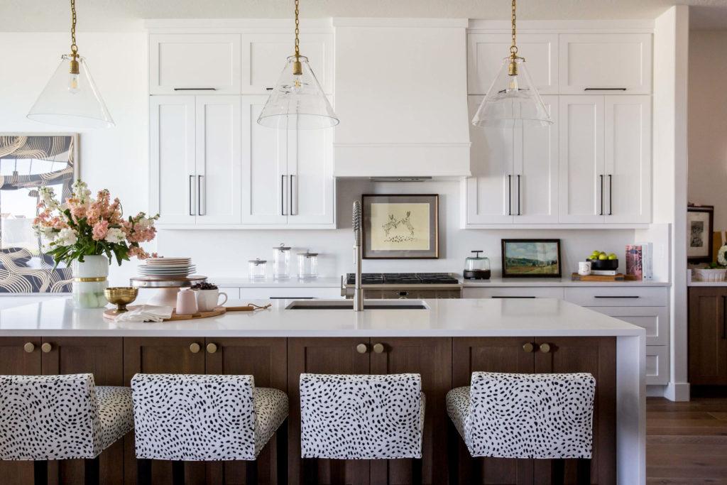 White Kitchen Interior Design by Miya Interiors