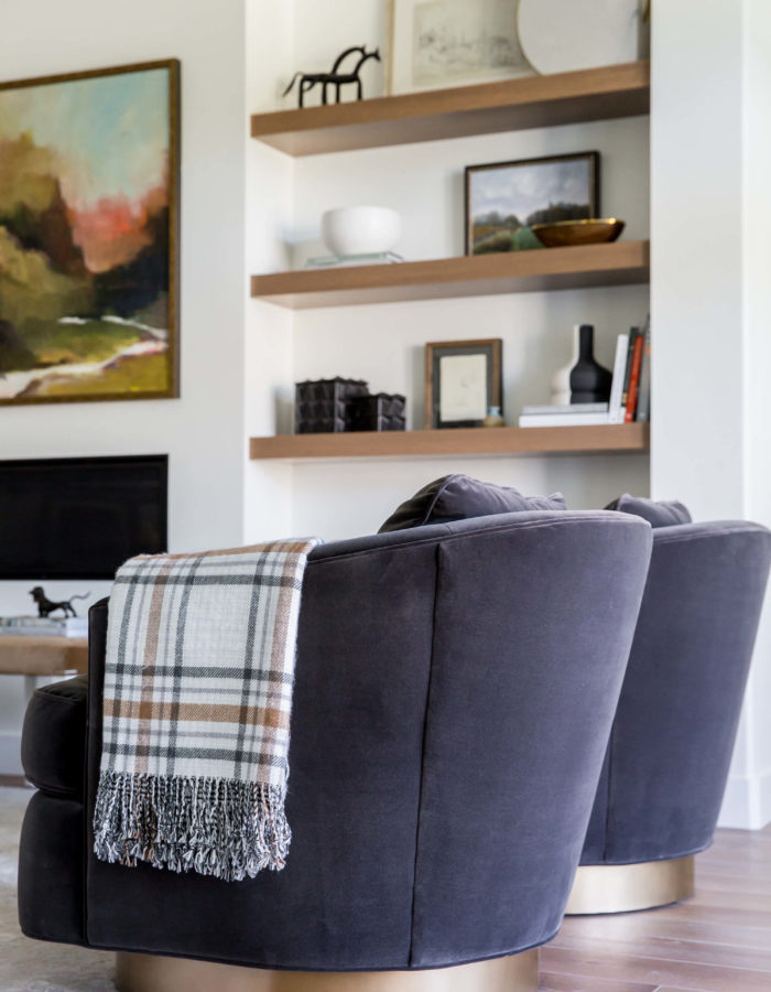 Dark Gray Accent Chairs with Living Room Interior Design Tips from Miya