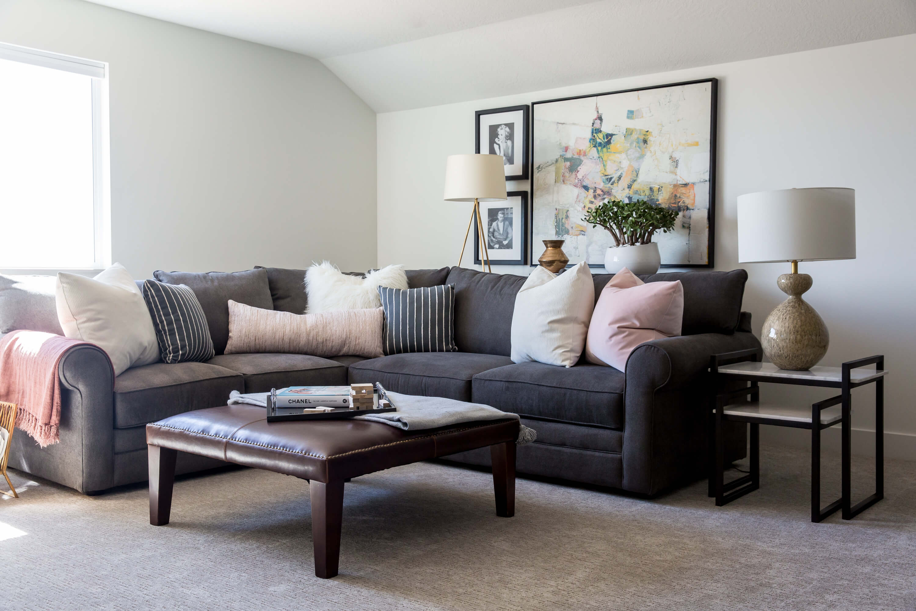 living room couch with pillows interior design