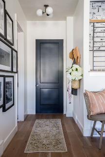 entryway paint colors by Miya Interior Designs