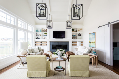living room paint colors and lighting from Miya Interiors